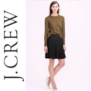 J. Crew Laser Cut Pleated Skirt